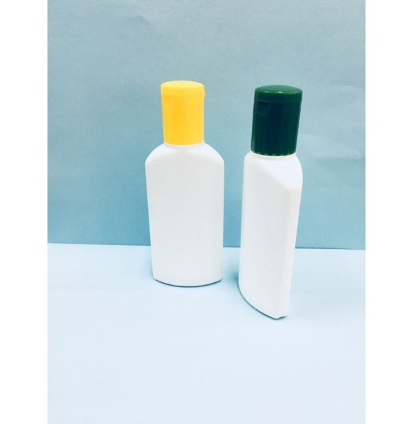 HDPE 50ml Flat Lotion & Oil Bottle
