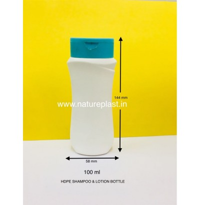 HDPE 100ml Venus Shampoo Bottle