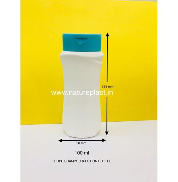 HDPE 100ml Venus Shampoo Bottle